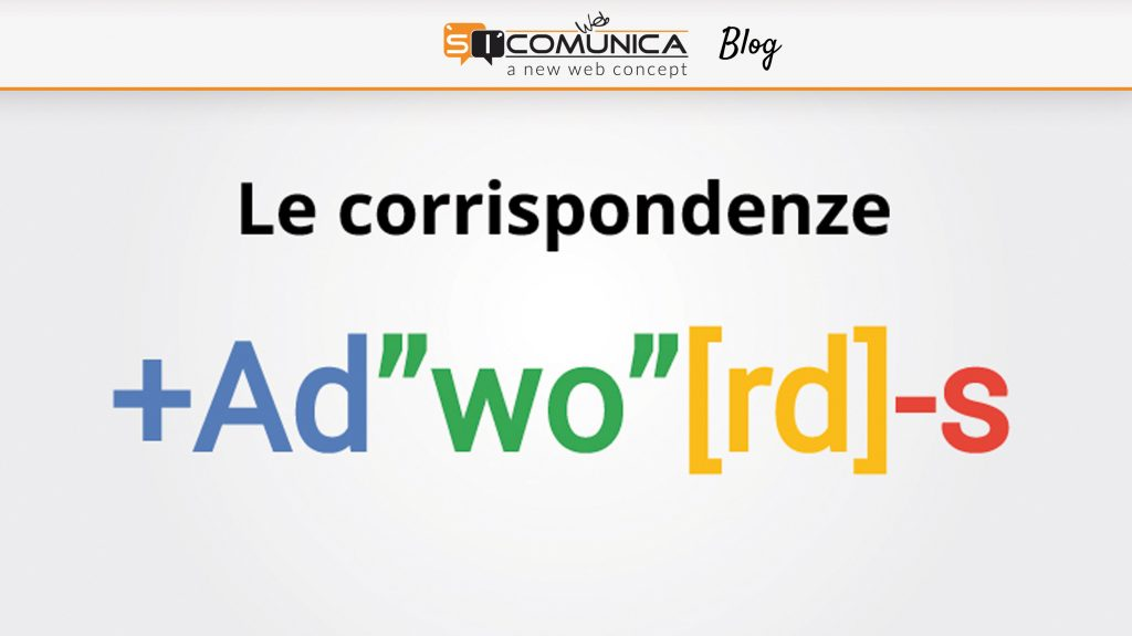 corrispondenze parole chiave adwords